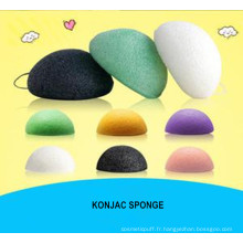 Konjac Sponge Beauty Essentials 100% naturel Konjac Facial Wash Cleaning Cosmetic Puff Green Charcoal White