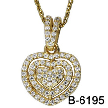 Hochwertige Modeschmuck 925 Sterling Silber Anhänger mit Liebe