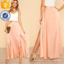 High Slit Front Swing Rock Herstellung Großhandel Mode Frauen Bekleidung (TA3093S)
