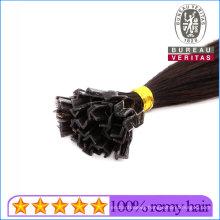 Silk Straight Natural Long 24inch Remy Human Virgin Hair Extension V Tip Hair