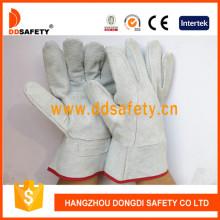 Kuh Split Leder mit natürlichen Farbe Split auf Palm Handschuh Dlw601