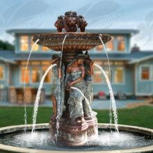 Vente chaude Bronze Lady Fontaine d'eau Bronze Fontaine