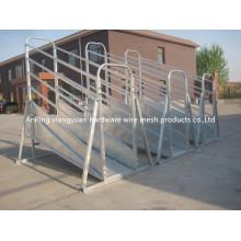 Panel de ganado galvanizado para servicio pesado portátil