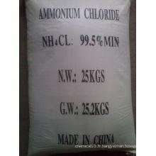 Chlorure d'ammonium 99,5% Min avec la meilleure qualité