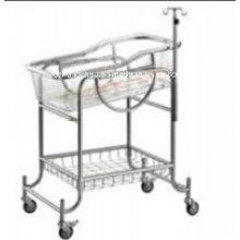 304grade S. S Hospital Baby Trolley