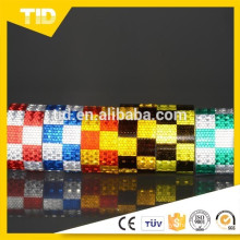 Blue and white yellow squares Reflective hazard warning tape