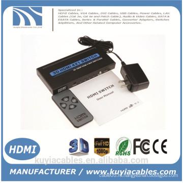 Новый HDMI-переключатель 4x1 Поддержка HDMI 1.4 3D-видео 1080P с ИК-пультом дистанционного управления