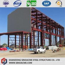 Usine industrielle de grande hauteur de structure métallique avec grue