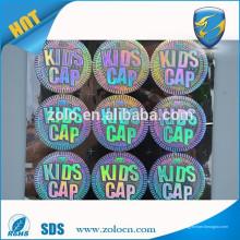 Zolo protection d'emballage numéro de série autocollant holographique personnalisé pour qc pass