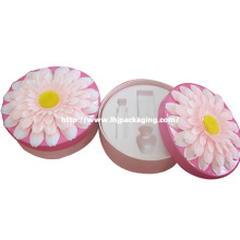 Cosmetic Packaging Round Box with Flocking Blister