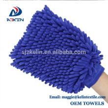 Guante de cera súper absorbente para lavado de autos y cera de microfibra Chenille Premium