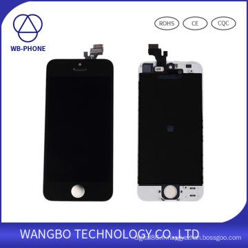 Écran d'affichage à cristaux liquides de téléphone portable pour l'Assemblée d'affichage d'écran tactile d'iPhone5