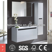 White MDF Wall Mounted Vanity Cabinet Material de Construção Bath Vanity