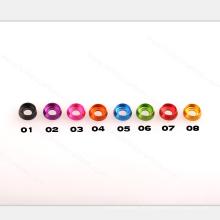M3, M4, M5 rondelles en aluminium anodisées de couleur