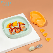 Многоразовая силиконовая тарелка для кормления для малышей