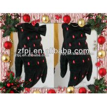 Ladies fashion winter dress pigskin leather gloves