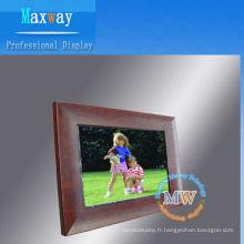 Cadre photo numérique en bois de 12,1 pouces
