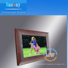 12.1 inch wood digital photo frame