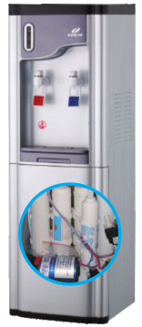 Hot Compressor Cooling RO Water Dispenser