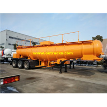 20000L Tri-axle Sulfuric Acid Road Tanker Trailers
