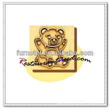 V205 moldou molde de imprensa do bolo do teste padrão do urso de cobre