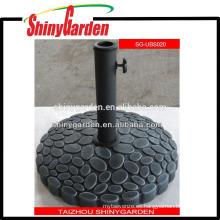 Sombrilla de sol de hormigón pesado al aire libre