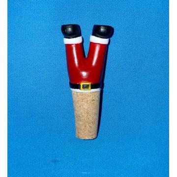 Decoração de Natal Resina Santa Botttle Stopper