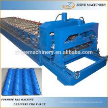 Acero coloreado, rodillo del azulejo del paso que forma la máquina