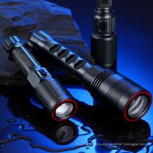 Lumifire CE / RoHS Холодный белый дальнего света с регулируемой яркостью светодиодный фонарик Rechargerable