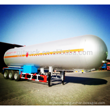 52cbm 3 axle lpg tanker trailer fuel tank liquid semi trailer oil tank semi trailer