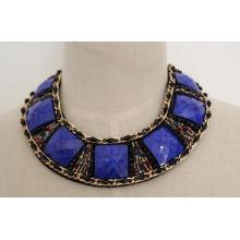 Fashion Charm Handmade Acrylic Zircon Chunky Costume Collar Necklace (JE0039-1)