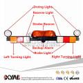 Luz de emergencia de barra de luz de minería de 12V LED Luz intermitente de ámbar intermitente con luz de trabajo