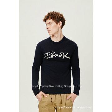 Акриловый пуловер вязаный трикотажный свитер для мужчин