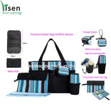Fashion Stripe Diaper Bag Set (five pieces)
