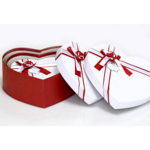 Red/White Heart Shape Paper Gift Boxes Packaging (GB-K005)