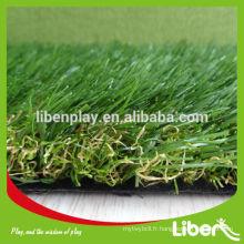 Gazon artificiel de gazon faux pour décor de résidence Avec CE approuvé, herbe synthétique Sport Soccer pour terrains de soccer LE.CP.025