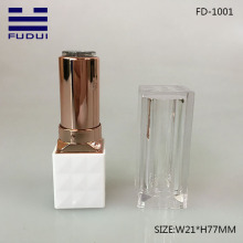 Transparent Cap Square Lipstick Tube Container In Stock