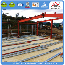 Easy build affordable EPS sandwich panelwall two story steel structure warehouse