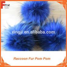 Fantastic Dark Blue Fur Pompon