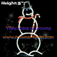 5inch Wholesale Rhinestone Snowman Shaped Christmas Crowns