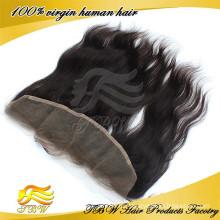 """Оптовая цена 13""""х4""""100% Виргинские человеческих волос прямой Перуанский Реми волос полное кружева Фронтальная закрытие на продажу"""