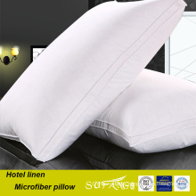 Package vacuum pillow / shaggy warm microfiber double stitch decorative hotel pillow