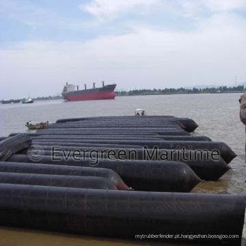 Airbag marinho de borracha natural para lançamento de navios