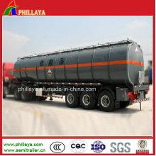 Asphalte liquide de bitume chauffant la remorque de camion de stockage / réservoir de bitume