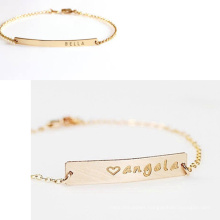 Custom Name Engraved Bracelet 925 Sterling Silver Jewelry for Gift