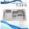 DS7345 CE approuvé en acier inoxydable vaisselle évier cuisine évier double bol