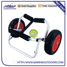 Wholesale Hot Sale Aluminum kayak cart with two wheels, folding aluminum kayak trolley