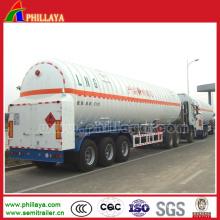 3 Axles 40-50cbm ASME CO2 LNG Gas Tank Semi Trailer