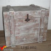 Gebeizt Grau Große Holzkiste mit Deckel