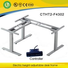 L forme ou 3 pieds électrique réglable cadre bureau pour bureau et table de conférence